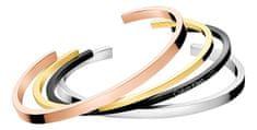 Calvin Klein Set štirih trdnih zapestnic KJ7GBF40010