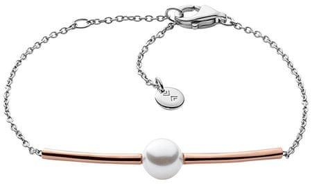Skagen Grzywny stali bransoletka perła SKJ0918998