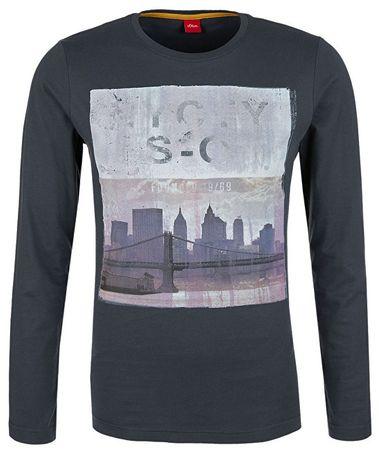 s.Oliver Pánske tričko 13.710.31.5748.9581 Grey (Veľkosť L)