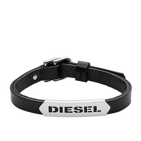 Diesel Moška usnjena zapestnica DX0999040