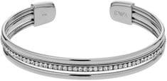 Emporio Armani stalowej opaski stałe kryształami EGS2193040