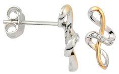 Silver Cat Aranyozott ezüst fülbevaló cirkónia kővel SC244 ezüst 925/1000