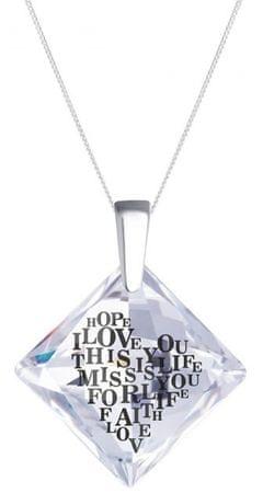 Preciosa Srebrna ogrlica s kristalčkom Libi 6061 00 (veriga, obesek) srebro 925/1000