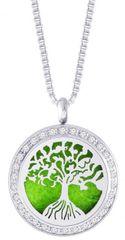 Preciosa Jeklena ogrlica z cirkoni Parfumirano drevo življenja 7301 00