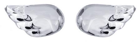 Preciosa Srebrne kolczyki kryształowe Skrzydła 6065 00 srebro 925/1000