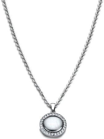 Lotus Style Jeklena ogrlica s kristali LS1775-1 / 1