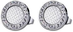 Lotus Style Ocelové náušnice s krystaly LS1778-4/1