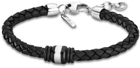 Lotus Style Černý kožený náramek LS1814-2/5