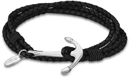 Lotus Style Kožený náramek s kotvou LS1831-2/1