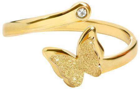 Troli Romantičen pozlačen prstan s kravato