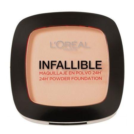 Loreal Paris Zwarty proszek o naturalnym wyglądzie skóry niezawodnie 24h (proszek Foundation) 9 g (cień 123 Warm