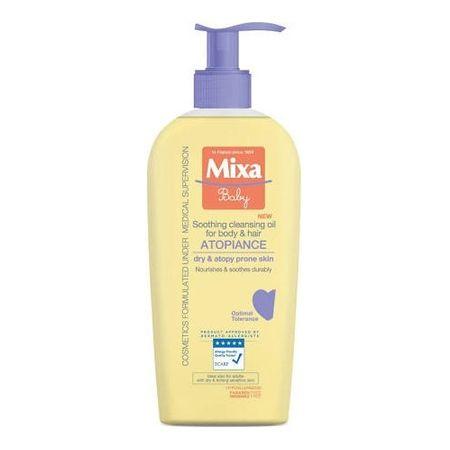 Mixa Nyugtató és tisztító olaj gyerekeknek (Soothing Cleansing Oil For Body & Hair) 250 ml
