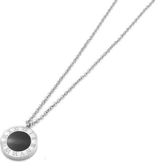 Troli Oceľový náhrdelník s obojstranným príveskom