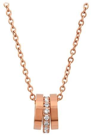 Troli Rožnato pozlačena ogrlica z nežnim obeskom