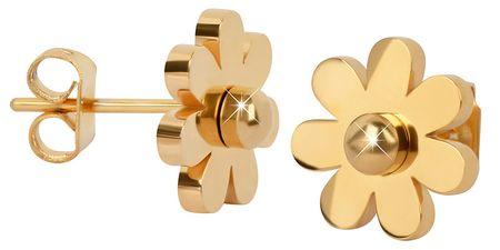 Troli Apró aranyozott virág fülbevaló