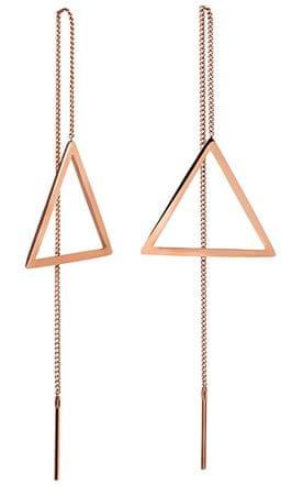 Troli Dolgi bronasti uhani s trikotniki