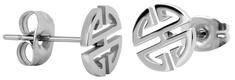 Troli Oceľové náušnice z ocele v tvare ornamentu