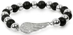 Troli bransoletka kulki z anielskimi skrzydłami
