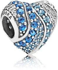 Pandora Blue Heart 797015NABMX srebro 925/1000