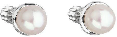 Evolution Group Srebrni uhani z biserno pavono 21003.1 srebro 925/1000