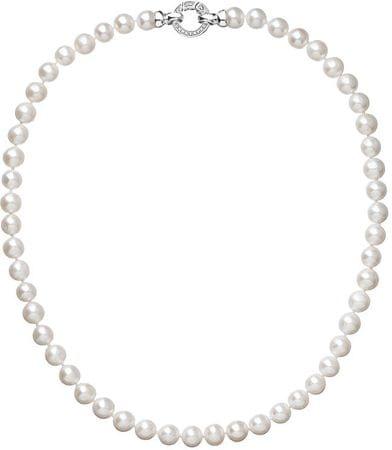 Evolution Group Krásny perlový náhrdelník Pavona 22003.1 A striebro 925/1000