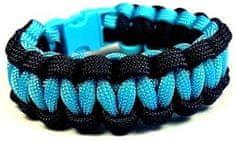 Cordell Paracord náramok Solomon Čierna-Modrá