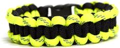 Cordell Paracord zapestnica Solomon črna z odsevno rumeno barvo