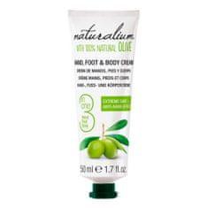 Naturalium Ošetrujúce krém na ruky, nohy a telo s olivovým olejom (Hand, Foot & Body Cream) 50 ml