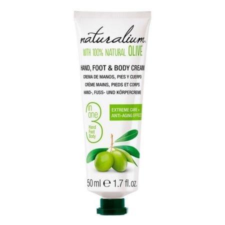 Naturalium Gondozása kézkrém, láb és a test olívaolajjal (kéz, láb és testápoló krém) 50 ml