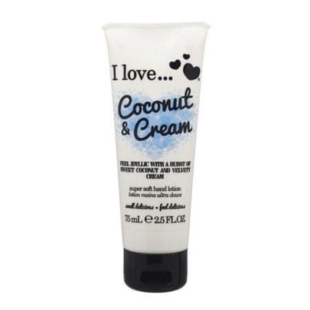 I Love Cosmetics Odżywczy krem do rąk o zapachu kokosowym i aksamitną śmietanką (kremem kokosowym i super miękka rą