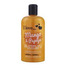 I Love Cosmetics Koupelový a sprchový krém s vůní manga a papáji (Mango & Papaya Bubble Bath And Shower Creme) 500 ml