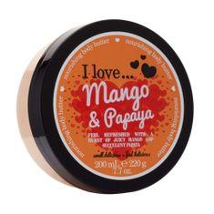 I Love Cosmetics Odżywczy masło korpus o zapachu mango i papaya (papai i mango masło odżywczy ciała) 200 ml