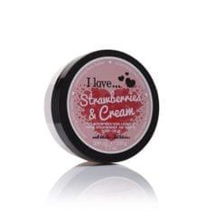 I Love Cosmetics Odżywczy masło korpus o zapachu truskawek ze śmietanką (truskawki i odżywczy krem do ciała masło)
