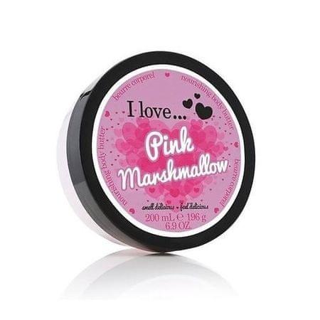 I Love Cosmetics Tápláló hatású testápoló vaj rózsaszín pillecukor illattal (Pink Marshmallow Nourishing Body Butter)