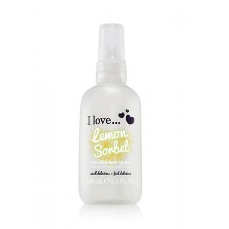I Love Cosmetics Osvěžující tělový sprej s vůní citronového sorbetu (Lemon Sorbet Refreshing Body Spritzer) 100 ml