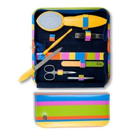 Credo Solingen Luksusowy 7-częściowy zestaw do manicure i pedicure Pop Art 7 - żółty