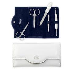 Credo Solingen Luksusowy 5-częściowy do manicure w białej przypadku skóropodobnym Bianco 5