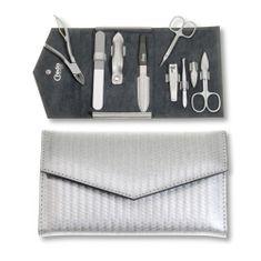 Credo Solingen Luz 7 jednoczęściowa manicure Carbon srebra obudowy 7