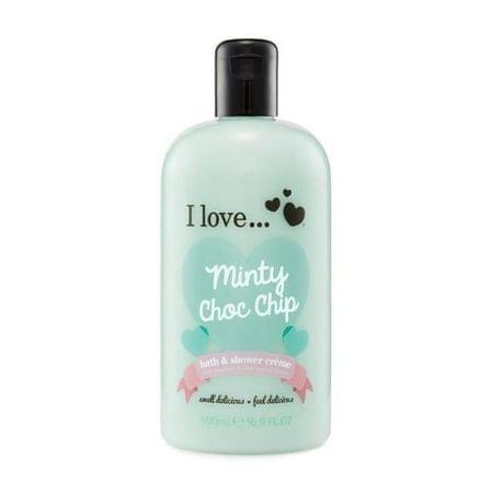 I Love Cosmetics Krémtustürdő és habfürdő menta illattal (Minty Choc Chip Bath & Shower Cream) 500 ml