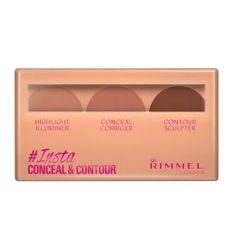 Rimmel Kontúrovacia paletka pre prirodzený vzhľad pleti (Insta Concealer & Contour Palette) 8,4 g