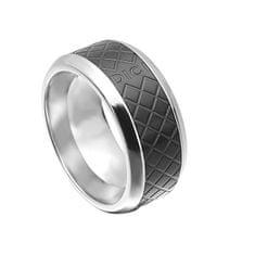 Dici Milano pierścień męska z czarnym wzorem DCRG5015020