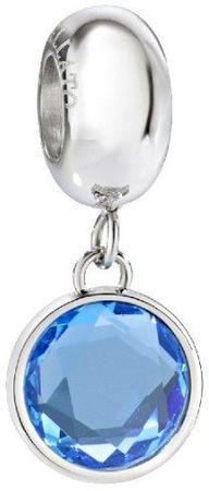 Morellato Obesek iz jekla z modro kristalno kapljico SCZ918