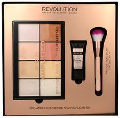 Makeup Revolution Zestaw upominkowy do twarzy rozjaśniające Amplified Strobe & Podświetlanie