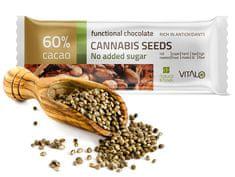 Vitalo Funkčné čokoláda Cannabis seeds 25g