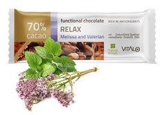 Vitalo Funkčné čokoláda Relax - Melissa and Valerian 25g