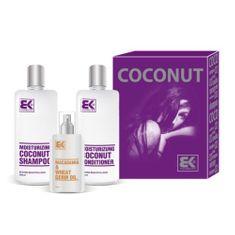 Brazil Keratin Gift Set dla suchych i zniszczonych włosów Coconut Set
