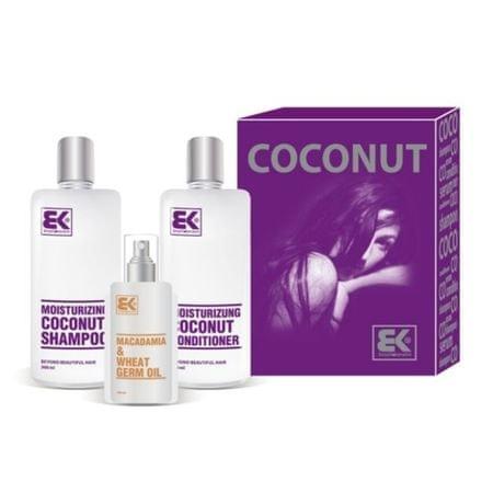 Brazil Keratin Coconut Set hajápoló ajándékcsomagszáraz és sérült hajra