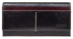 Lagen Női bőr pénztárca 9770 fekete + piros