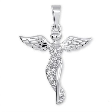 Brilio Silver Srebrny wisiorek Anioł z kryształkami 446 001 00379 04 srebro 925/1000