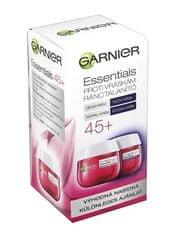 Garnier Essentialsnappali és éjszakai ránctalanító krém 45+ (Anti-Wrinkle Day & Night Cream) 2 x 50 ml